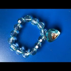 Clear blue frozen , Elsa and Anna child's bracelet